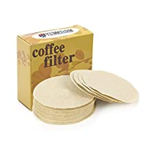 Coffee Paper Filters Yummy Sam® Natural Paper Filters Kitchen Craft Unbleached for 1-4 Cup Moka Pot Keurig Home Single Cup Brewing Systems Size 6 Pack of 100