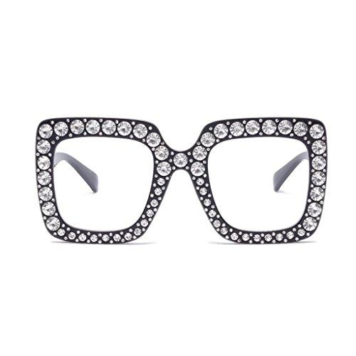 Explosión Europa Estados Unidos Personalidad Color Marco Los de Sol UV400 D Decoración Gran Mujeres Gafas Diamantes Gafas D Modelos Gafas xwP6qv8FI