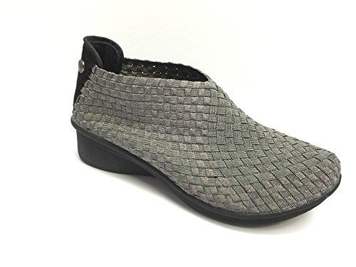 Bernie Mev Mujeres Gem Yael Gunmetal Mid-heel Botaie Shoe Eur 38
