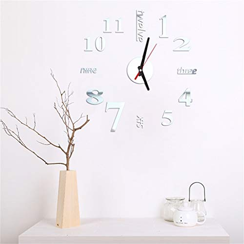 - OTTATAT Wall Stickers for Bedroom Boys 2019,3D DIY Roman Numbers Acrylic Mirror Clock Home Decor Mural Decals Easy to Peel Birthday SleepingGift for boy Free Deliver Clearance