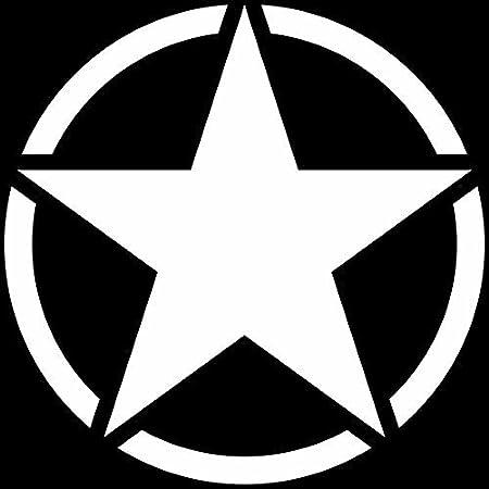 Greenit Us Stern 50cm Auto Jeep Heck Tür Aufkleber Tattoo Die Cut Car Decal Fahrzeugfolie Autoaufkleber Matt Weiß Auto