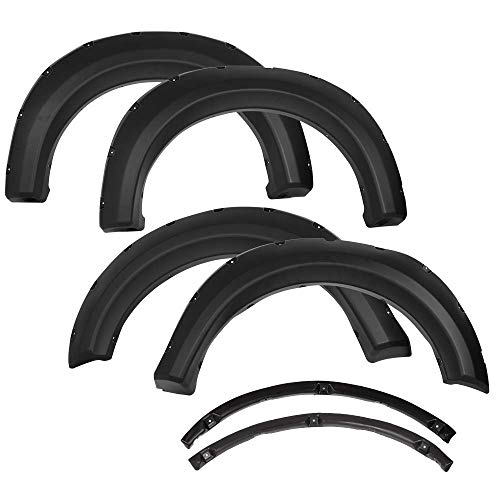 2013 Fender Trim - Fender Flares Compatible With 2009-2014 Ford F150 | Pocket Rivet Style Matte Black Finish PP Front Rear Right Left Wheel Cover Protector Vent Trim by IKON MOTORSPORTS