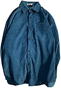 DXHNIIS Camisa de Pana Material Hombre XXL Azul: Amazon ...