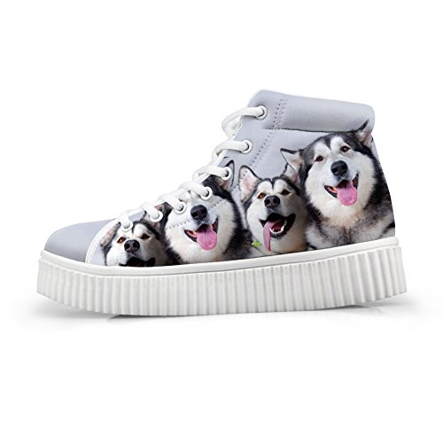 Platform Up Sneaker Dog Shoes5 Cute High Casual Print Pet Shoes Lace HUGSIDEA Top UTvqZwaW