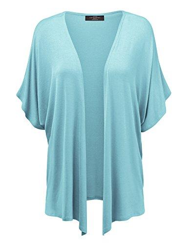 MBJ Womens Short Sleeve Kimono Style Cardigan – Made in USA