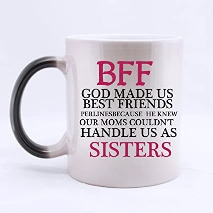 Amazoncom Best Friends Gifts Funny Quotes Bff God Made Us Best