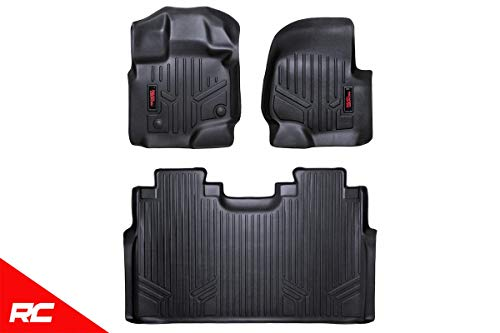 Rough Country Floor Liners (fits) 2015-2019 F150 (F-150) SuperCrew Bucket 1st 2nd Row M-51512 Weather Floor Mats (2018 Rough Country)