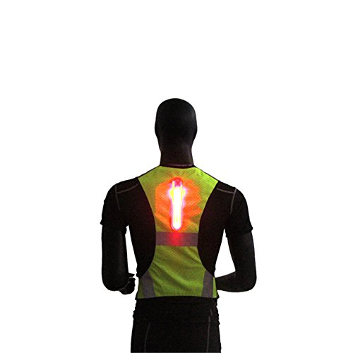 Hogear Reflective Safety Vest LED Lightweight Mesh Breathable High Visibility Running Cycling Outdoor Sports
