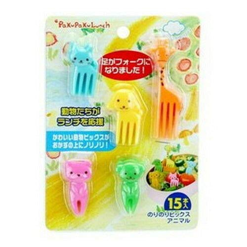 Set of 15 Animal Shapes Party Fruit Picks for Bento Box S-3293 by japan_bargain