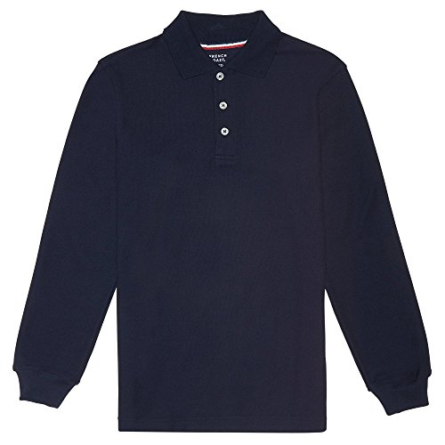 Kids Long Sleeve Polo (French Toast Long Sleeve Pique Polo Boys Navy 8)