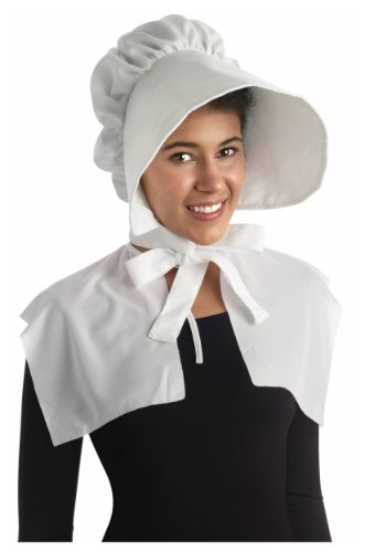 Forum Novelties Oversized Bonnet, White, One -