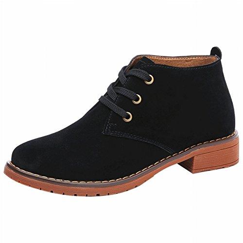 Vintage Martin Boots Femme Bottes en Coton Diapositives avec Des Chaussures de Femmes Bottes , noir , 38 EUR