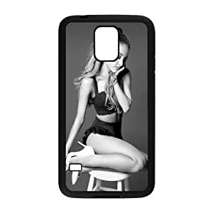 Popular And Durable Designed TPU Case With Ariana Grande_003 FOR samsung galaxy s5 Cell Phone Black Case