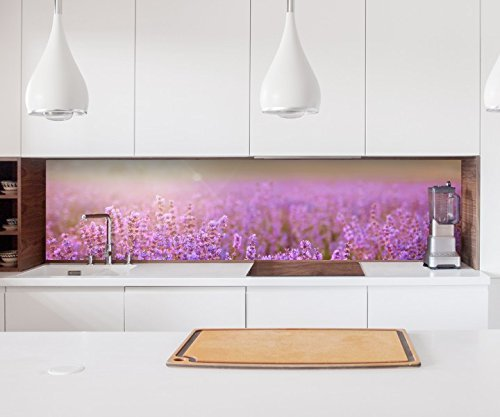 Aufkleber Küchenrückwand Lavendel Feld Sommer Sonnenuntergang Folie selbstklebend Dekofolie Fliesen Fliesen Fliesen Möbelfolie Spritzschutz 22A705, Höhe x Länge 70cm x 100cm B077RJRPDQ Wandtattoos & Wandbilder 2bc39e