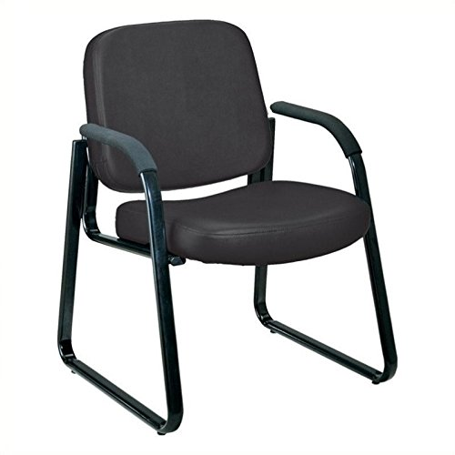 OFM Model 403-VAM Guest and Reception Chair with Arms, Anti-Microbial/Anti-Bacterial Vinyl, Black (Antibacterial Vinyl)