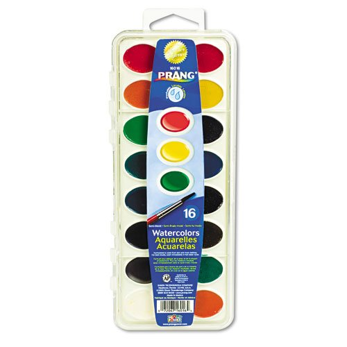 (Prang - Washable Watercolors, 16 Assorted Colors - Sold As 1 Each - Semi-moist watercolors for brilliant colors and easy clean-up.)