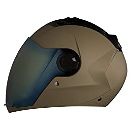 Steelbird Sba-2 Matt Desert Storm with Gold Visor 580 mm Helmet with One Extra Transparent Visor and Lock (Medium)