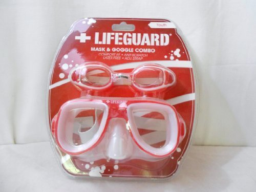 Lifeguard Mask & Goggle Combo Youth Größe ROT by Life Guard