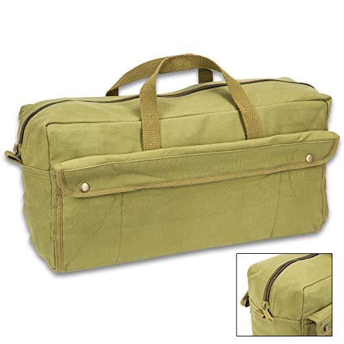 (Black Legion Jumbo Mechanics Tool Bag - Olive Drab, Heavyweight Cotton Canvas Construction, Heavy-Duty Cotton Web Handles)