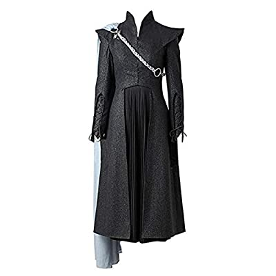 Game of Thrones VII Daenerys Targaryen Cosplay with Cloak Customized