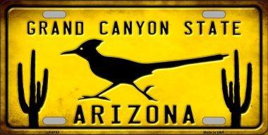 (Smart Blonde Arizona Grand Canyon State Roadrunner Metal License Plate)