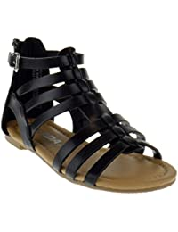Dixon 2A Little Girls Strappy Peep Toe Gladiator Sandals