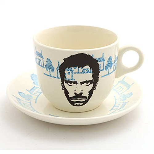 Price comparison product image House MD Teacup and Saucer with Hugh Laurie