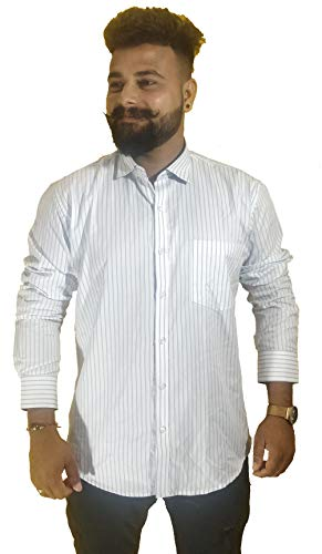 ihope Man White Lined Casual Shirt