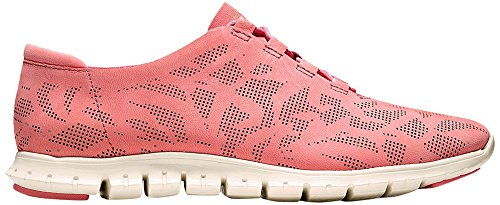 Cole Haan Womens Zerogrand Perforated Trainer Fashion Sneaker Coral Perf Nubuck