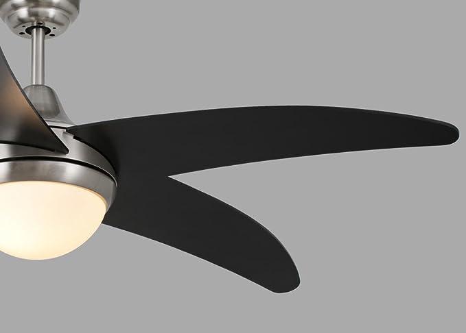 VENTILADOR DE TECHO PREMIUM Negro con luz, Mando Incluido