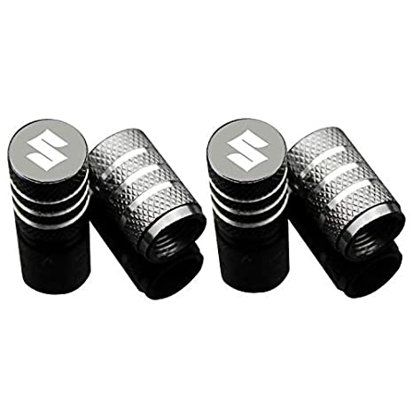 SUV Truck 4pcs Car Tire Air Valve Caps- Auto Wheel Tyre Dust Stems Cover with Logo Emblem Waterproof Dust-Proof Universal Fit for Cars Motorcycles Red,Honda