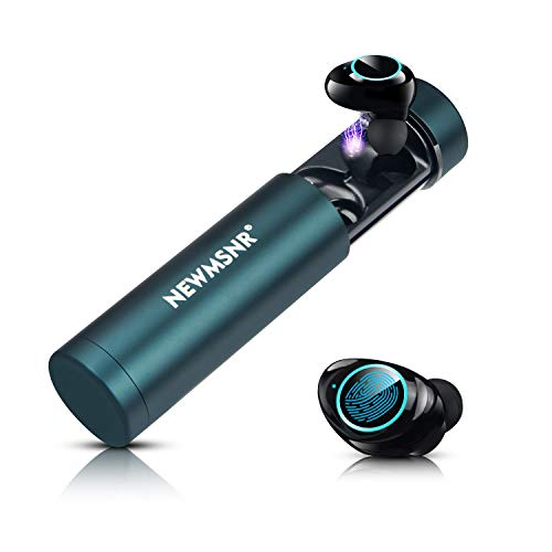 Wireless Earbuds Newmsnr True Wireless Earbuds Bluetooth 5.0 + EDR Headset Waterproof IPX7 Touch Control Hi-Fi Wireless Headphones CVC 8.0 Noise Cancelling Earbuds with mic and Charger Case