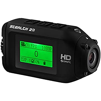 Stealth 2 Sports Action Camera by Drift | Action Shot Camera Includes Universal Clip for use as POV Camera or Helmet Camera