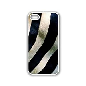 Zebra Stripes iPhone 5 White Case - For iPhone 5/5G White - Designer TPU Case Verizon AT&T Sprint