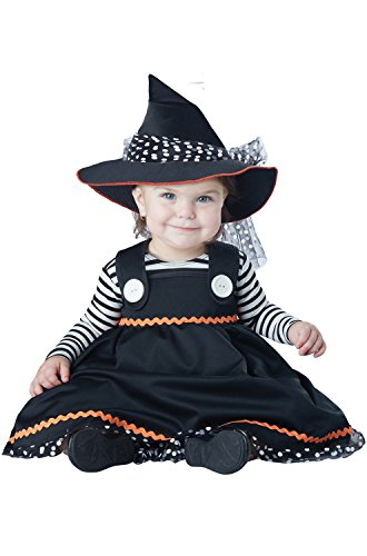 18 To 24 Month Costumes (California Costumes Baby Girls' Crafty Lil' Witch Infant, Black/White, 18 to 24 Months)