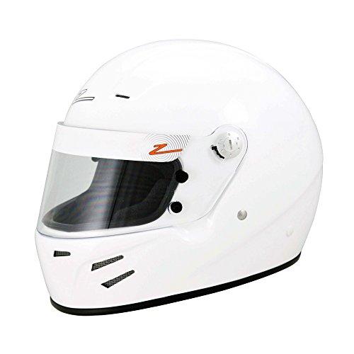 Large Full Face Snell Helmet - Zamp FSA-3 Auto Full Face Snell SA2015 Helmet White Large