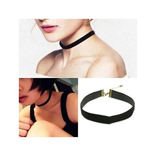 90's Black Velvet Choker Necklace Goth Gothic Handmade Retro Burlesque Jewelry (Burlesque Jewellery)