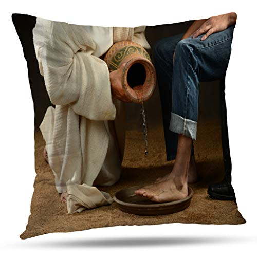 Suesoso Jesus Decorative Pillows Case,Jesus Water Wash Modern