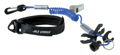 JET LOGIC UL-3 Ultimate PWC Safety Lanyard, Blue/Silver - Safety Wrist Lanyard