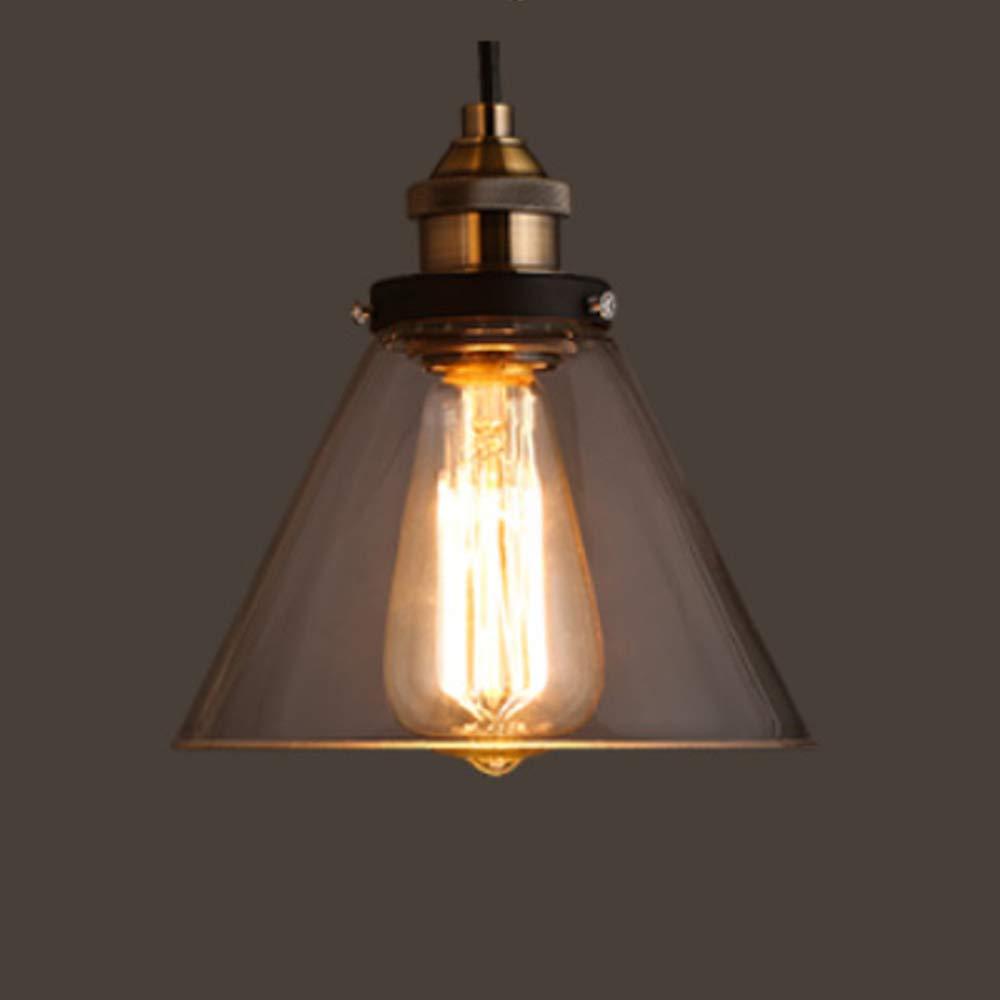 Moderne Pendelleuchte Glas klar, E27 Lampenfassung Hängeleuchte Moderne Corridoio Restaurant Gang Lüster deckenleuchte-O