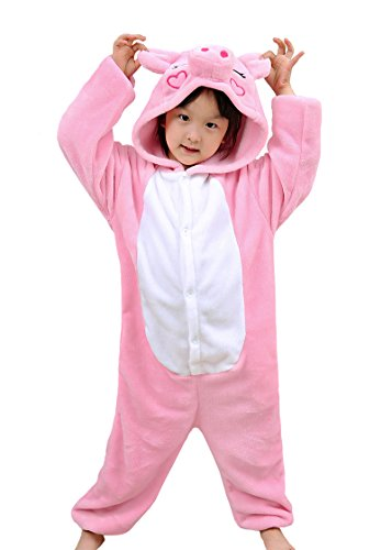 Tonwhar Children's Halloween Costumes Kids Kigurumi Onesie Animal Cosplay (140(height:53.14