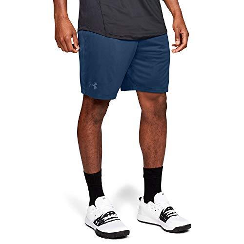 Under Armour mens MK1 Shorts, Petrol Blue (438)/Thunder, Medium (Training Shorts Mens Under Armour)
