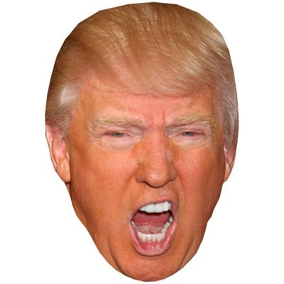 Donald Trump (Shouting) Celebrity Mask, Cardboard Face and - Cardboard Cutout Celebrities