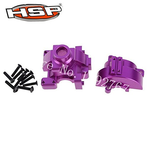 (Hockus Accessories Upgrade Parts 102075 Alum.Gear Box with Screws Accessories for 1/10 Scale RC Car 4WD Nitro Power On Road 94102 Sonic CNC - (Color: Purple) )