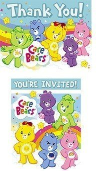 Care Bears Invitations and Thank You Notes, 16pc