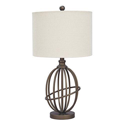 - Ashley Furniture Signature Design - Manasa Metal Table Lamp - Traditional - Bronze Finish