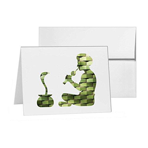 Snake Charmer Snake Music Pungi Reptile, Blank Card Invitation Pack, 15 cards at 4x6, with White Envelopes, Item -