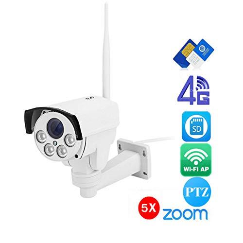 2019年秋冬新作 FidgetGear 4G Sim Card Wireless IP Camera HD 1080P PTZ 4X Optical Zoom Waterproof 1080P with 32G SD 1080P with 32G SD  B07Q8QKMT3, オフィス家具マート 36de583e