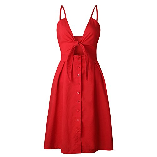 Soleil Vintage d't Bretelle Vacences Femme Fleurs Robe Imprim Robe Profonde Col ASSKDAN Z en rouge Princesse Robe V 5zOxPntw
