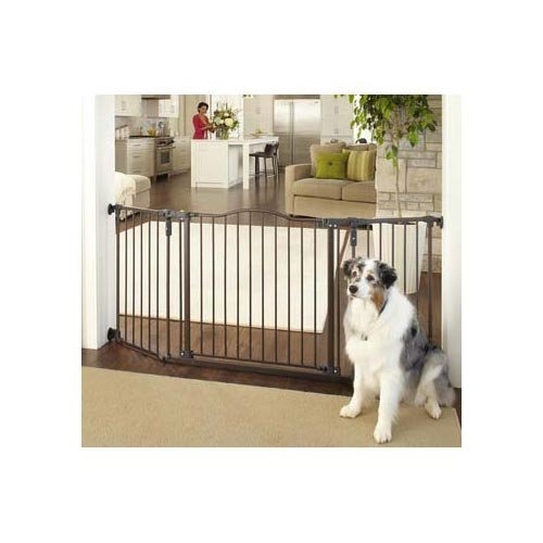 Deluxe Décor Wall Mounted Matte Bronze Gate 37'' - 71'' x 30.7'' (3 Pack) by North States